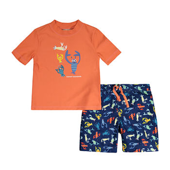 Tommy Bahama Baby Boys Rash Guard Set