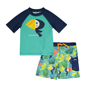 Tommy Bahama Baby Boys Animal Rash Guard Set