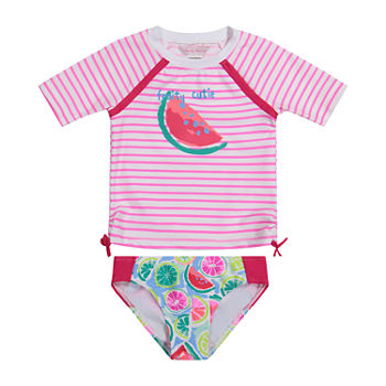 Tommy Bahama Baby Girls Rash Guard Set