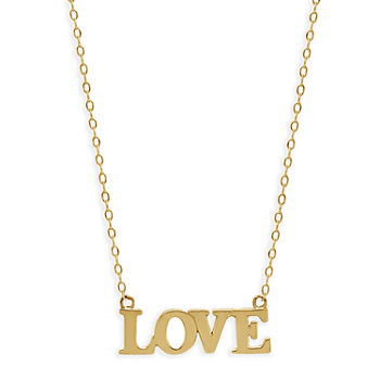Love Womens 14K Gold Pendant Necklace