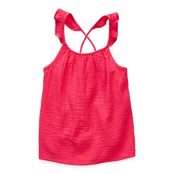 Arizona Little & Big Girls U Neck Tank Top