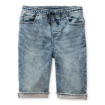 Arizona Pull-On Little & Big Boys Denim Short