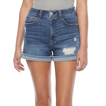 "Vanilla Star Womens High Rise 3"" Denim Short-Juniors"