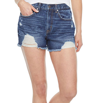 "Vanilla Star Womens Mid Rise 3 1/2"" Denim Short-Juniors"