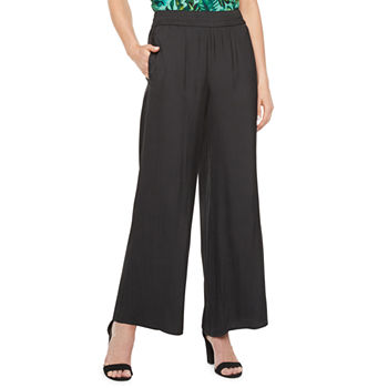 Worthington Fashion Womens Mid Rise Wide Leg Palazzo Pant