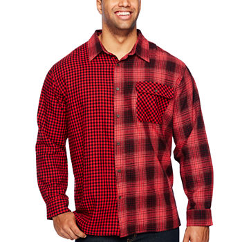8a9cd22f2 Big Tall Size Flannel Shirts for Men - JCPenney