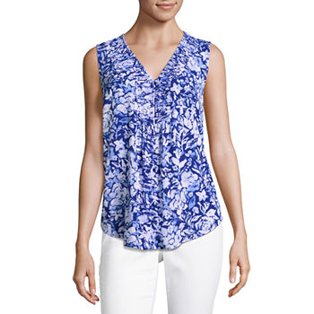4c1b1010bf7495 Misses Size Blue Tops for Women - JCPenney