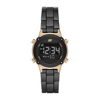 Skechers Hollyglen Womens Chronograph Digital Black Bracelet Watch - Sr6175