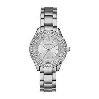 Skechers Chabela Womens Crystal Accent Silver Tone Bracelet Watch - Sr6122