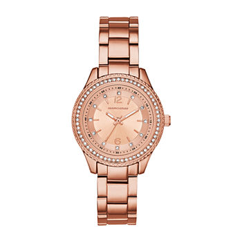 Skechers Chabela Womens Crystal Accent Rose Goldtone Bracelet Watch - Sr6123