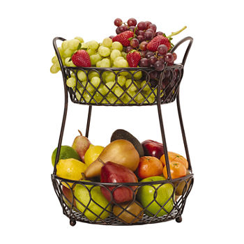 Gourmet Basics by Mikasa Loop And Latice 2 Tier Basket Basket
