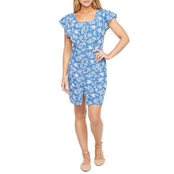 a.n.a Short Sleeve Sheath Dress