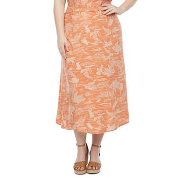 a.n.a-Plus Womens Printed A-Line Skirt