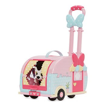 Disney Collection Minnie Pet Carrier With Figaro Playset