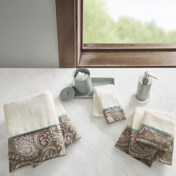 Madison Park Whitman Cotton Jacquard 6-pc. Paisley Bath Towel Set