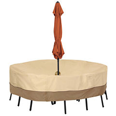 Classic Accessories® Veranda Large Round Table with Umbrella Hole Cover