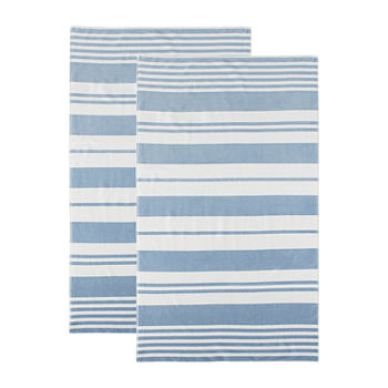 Linden Street Stripe Organic Cotton Jacquard Beach Towel