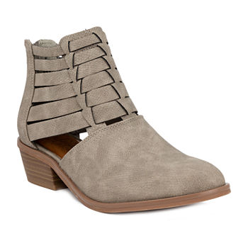 Sugar Womens Embiee Booties Block Heel