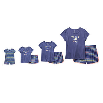 Sleep Chic Mommy & Me Summer Staycation Pajamas