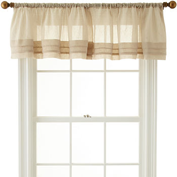 valance valances slp waterfall window furnishings amazon treatments com home ombre achim sandstone