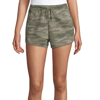 Flirtitude Womens Low Rise Pull-On Short-Juniors