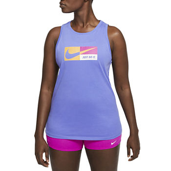 Nike Womens Round Neck Sleeveless Tank Top