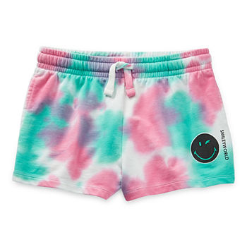 Smiley World Pull-On Little & Big Girls Mid Rise Shortie Short