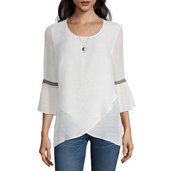 cea959f1b025a8 Alyx 3/4 Sleeve Tops for Women - JCPenney