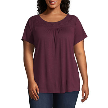 f9fe4badfbfe Plus Size Tops for Women - JCPenney