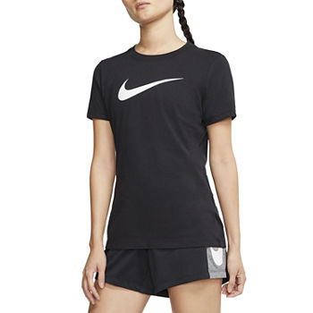 Nike Womens Crew Neck Short Sleeve Graphic T-Shirt