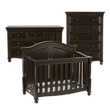 Bedford Baby Monterey 3 Pc Baby Furniture Set Chocolate