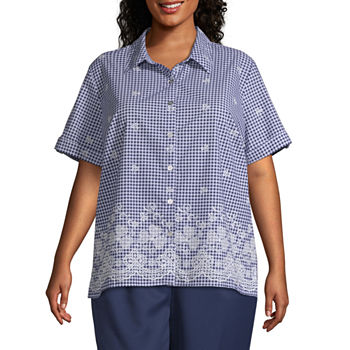 8b0e79853 Alfred Dunner Catalina Island Womens U Neck Short Sleeve Layered Top. Add  To Cart. New. Multi