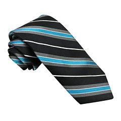 Stafford® Marco Bay Textured Stripe Silk Tie - Slim