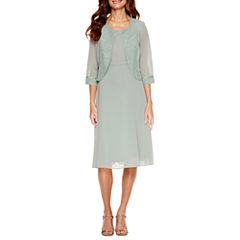 Maya Brooke 3/4 Sleeve Jacket Dress
