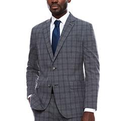 JF J.Ferrar Plaid Slim Fit Stretch Suit Jacket-Slim