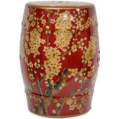 Oriental Furniture Sakura Blossom Patio Garden Stool