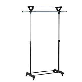 Portable And Expandable Garment Rack In Black Chrome 18 Months Inspiration Garment Racks Irons Laundry Care For The Home JCPenney