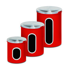 Honey-Can-Do® 3-pc. Metal Storage Canister Set