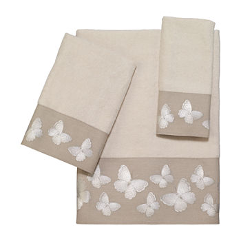 Avanti Yara Ivory Embroidered Bath Towel