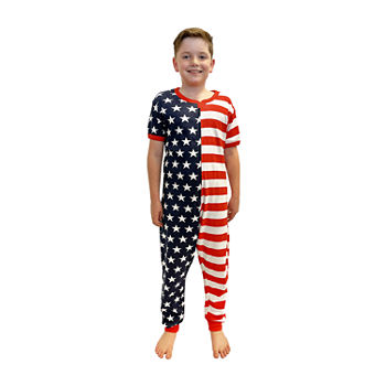 Americana Family Little & Big Unisex Short Sleeve One Piece Pajama