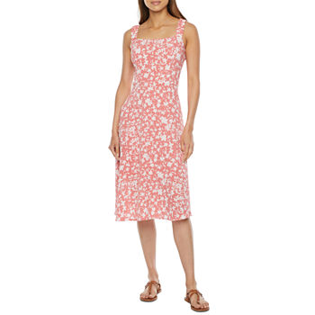 52seven Sleeveless Floral Fit & Flare Dress