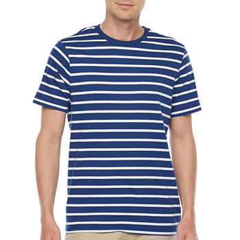 St. John's Bay Mens Crew Neck Short Sleeve Striped T-Shirt