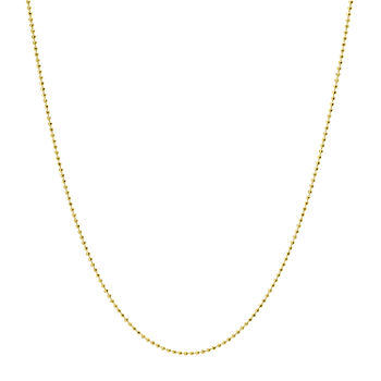 Silver Treasures Made In Italy 14K Gold Over Silver 18 Inch Bead Chain Necklace