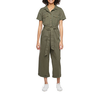 a.n.a Short Sleeve Belted Jumpsuit-Tall