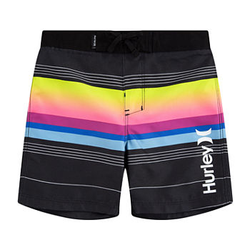 Hurley Little Boys Striped Board Shorts