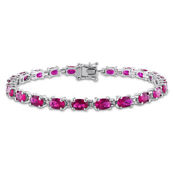 bracelet ruby p white gold diamond and