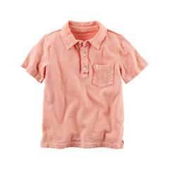 Carter's Short Sleeve Knit Polo Shirt - Preschool Boys
