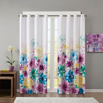 Intelligent Design Ashley Blackout Grommet-Top Single Curtain Panel