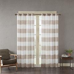 Urban Habitat Chapin Grommet-Top Sheer Curtain Panel