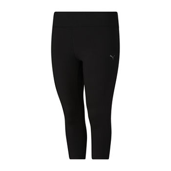Puma Solid 3/4 Leggings Mid Rise Plus Workout Capris